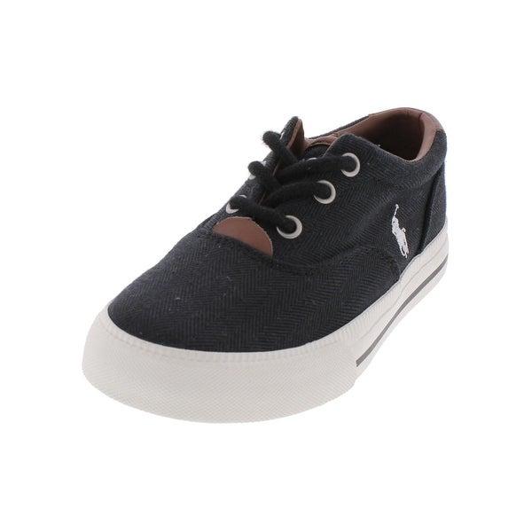 4095e29e74 Shop Polo Ralph Lauren Boys Vaughn II Fashion Sneakers Leather Trim ...