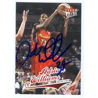 Adrian Williams Autographed Basketball Card Phoenix Mercury 2004