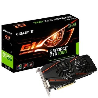 Gigabyte GV-N1060G1GAM-6GD R2 GeForce GTX 1060 G1 Gaming 6GB Graphics Card