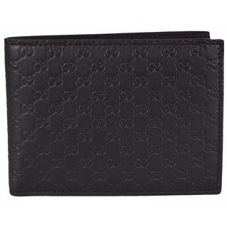 """Gucci Men's 278596 Brown Micro GG Guccissima Large Bifold Wallet - 5""""x3.75"""""""