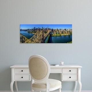 Easy Art Prints Panoramic Image 'Queensboro Bridge, Midtown Manhattan, New York City, New York State, USA' Canvas Art