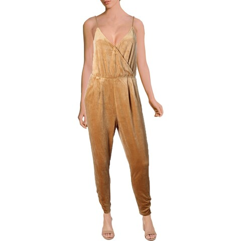 Juicy Couture Black Label Womens Jumpsuit Velour Gathered