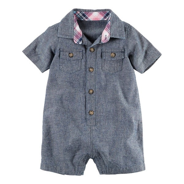 c6df91b0194d Shop Carter s Baby Boys  Chambray Romper
