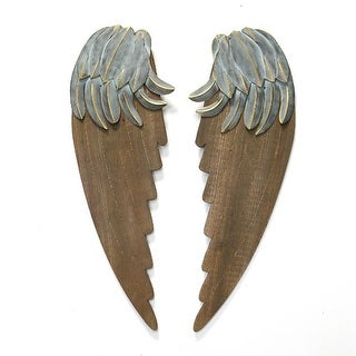 Stratton Home Decor Handcrafted Rustic Angel Wings