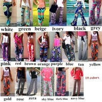 Bohemian Loose Fit High Waisted Pants