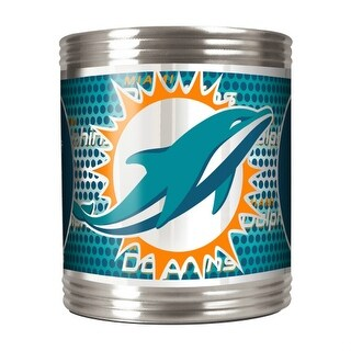 Great American Products Miami Dolphins Can Holder Stainless Steel Can Holder