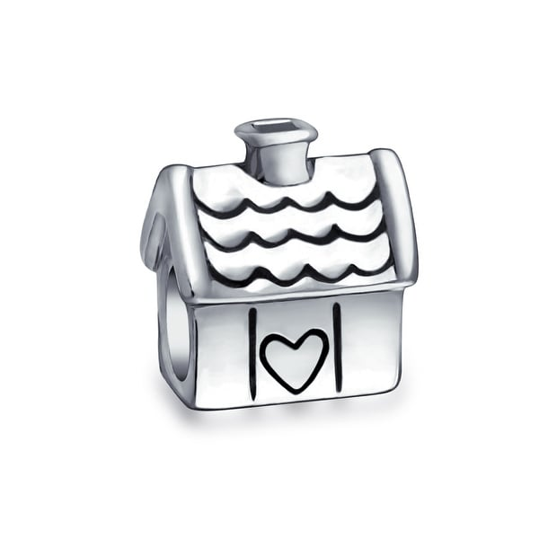 Sweet Home Family House New Home Owner Charm Bead Sterling Silver. Opens flyout.