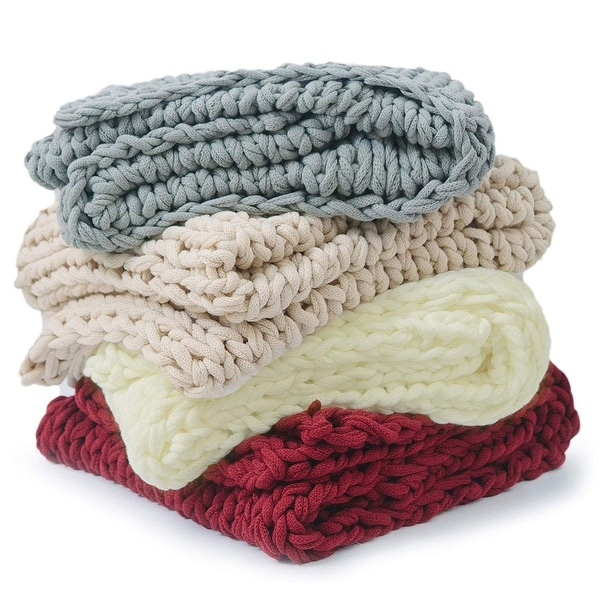 Cheer Collection Ultra Plush Chunky Cable Knit Throw Blanket. Opens flyout.