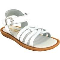 Umi Girls' Cora Sandal White Leather