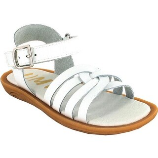 Umi Girls' Cora Sandal White Leather