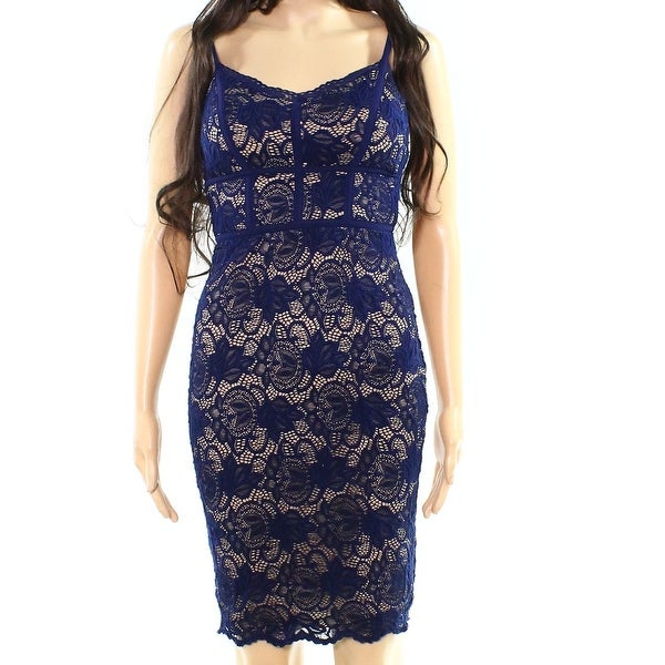 48a13e16d5 Shop B. Darlin Nude 1 2 Junior Lace Illusion Bandage Dress - On Sale ...