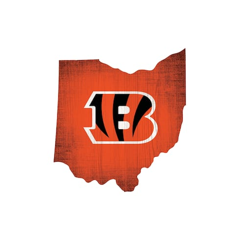 Cincinnati Bengals Sign Wood Logo State Design