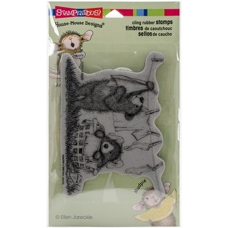 """Stampendous Gruffies Cling Stamp 4""""X6""""-Laundry Day"""