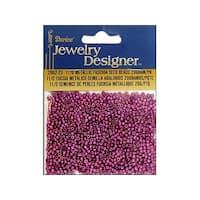 Darice JD Seed Bead 11/0 Metallic Fuchsia