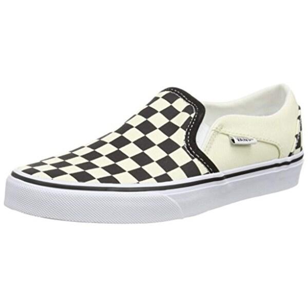Vans Asher, WomenS Low-Top Sneakers, White (Checkerboard/Black/White), 5.5  Uk (38.5 Eu)