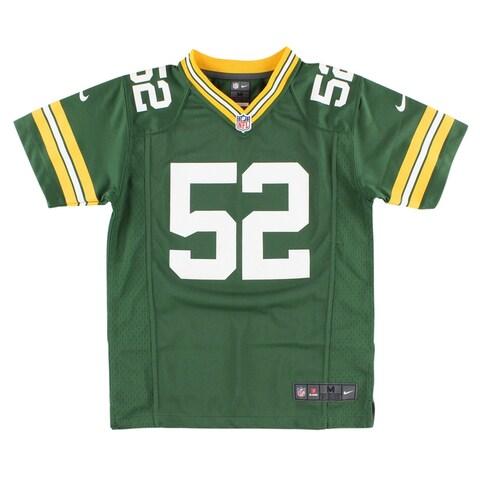 Nike Boys Green Bay Packers Clay Matthews Game Jersey Green - green/white/yellow - S