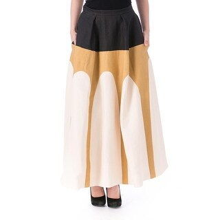 DELPOZO Womens Paper Scalloped A-Line Skirt - 38