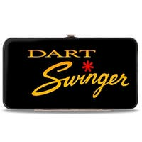 Dodge Dart Swinger Script Black Red Yellow Fade Hinged Wallet - One Size Fits most