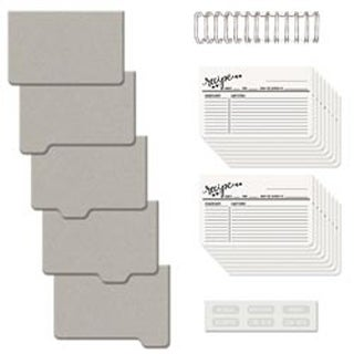 """Covers; Pages & Wire - Cinch Recipe Book Kit 6""""X7"""""""