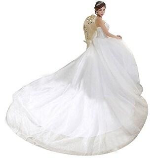 Eyekepper Strapless Train Bridal Gown Wedding Dress For Bride 14