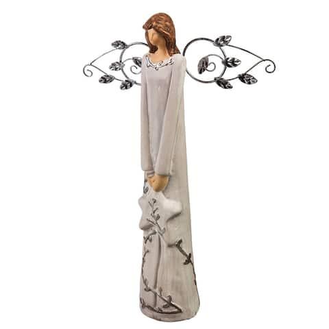 "12"" Nature's Promise, Angel Ceramic Statuary, Star in Hand"