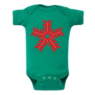 Knitted Snowflake - Infant One Piece