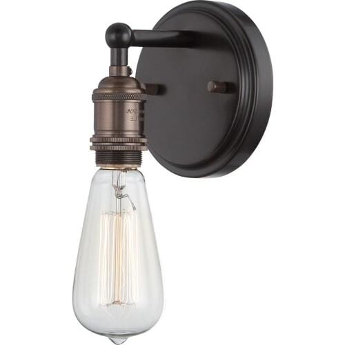 "Nuvo Lighting 60/5515 Vintage 4.875"" Width 1 Light Bathroom Sconce in Rustic Bronze"