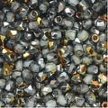 True2 Czech Fire Polished Glass, Faceted Round 2mm, 50 Pieces, Crystal Marea - Thumbnail 0