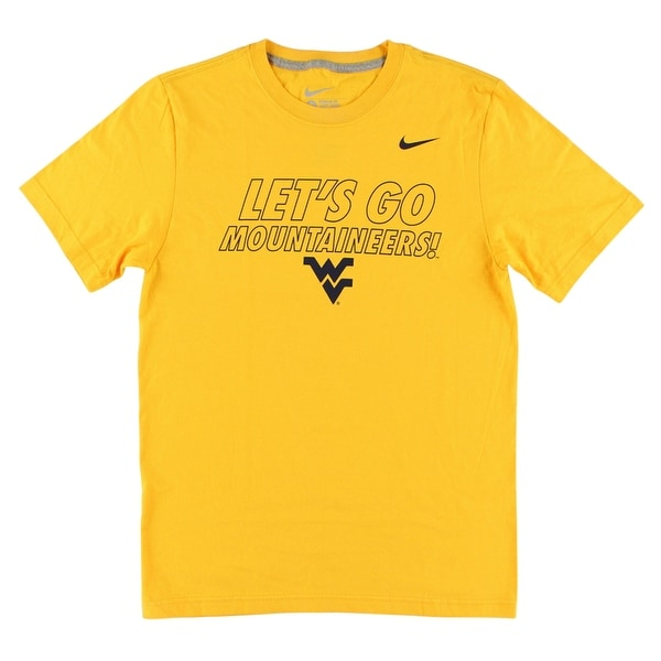 a597bb6b18d5 Shop Nike Mens West Virginia Mountaineers College Local T Shirt Yellow -  yellow navy blue - s - On Sale - Free Shipping On Orders Over  45 -  Overstock - ...
