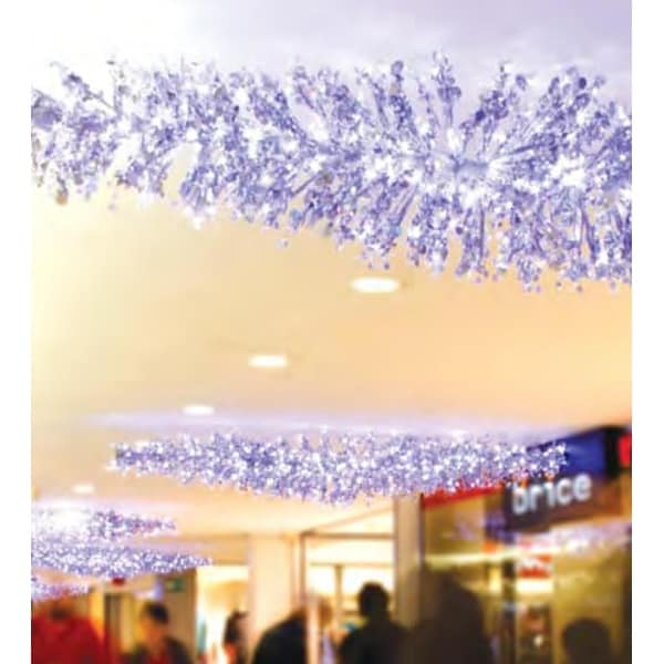 9' LED Lighted Silver Manhattan Lightspray Commercial Display Decoration