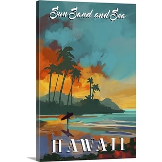"""Hawaii"" Canvas Wall Art"