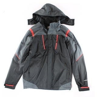 Weatherproof NEW Black Red Mens Size Medium M Hooded Puffer Jacket
