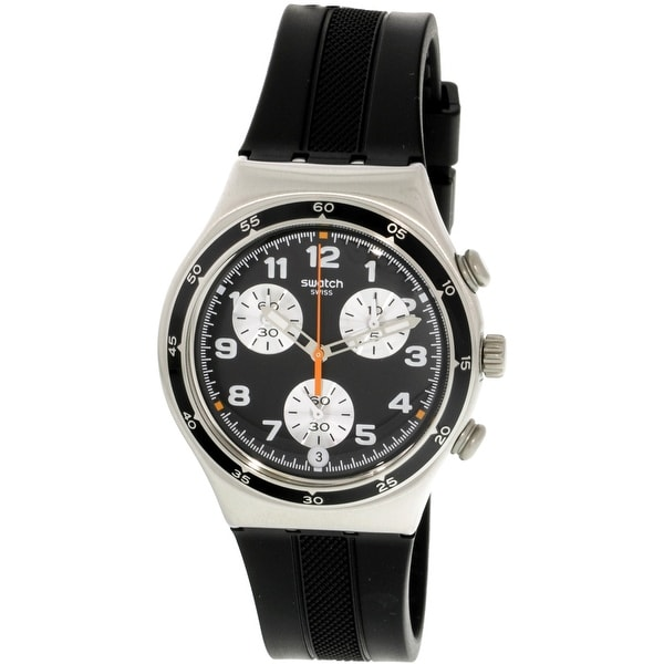 8cca967a85e6 Shop Swatch Apres Vous Silver Silicone Swiss Quartz Fashion Watch - Free  Shipping Today - Overstock - 19876122
