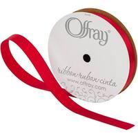 "Single Face Satin Ribbon 5/8""X20yd-Scarlet"