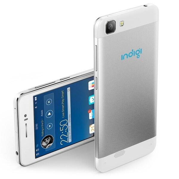 Indigi® NEW 2016  3G GSM+CDMA Unlocked V19 Dual-Core Android 4.4 KitKat SmartPhone w/ Dual Cameras & Dual-Sim slots (White)