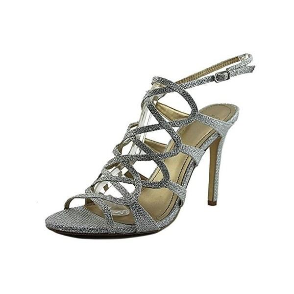 Belle Badgley Mischka Womens Zariah Evening Heels Glitter Caged