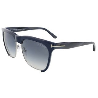 Tom Ford FT0366/S 74B Thea Navy Blue Clubmaster Sunglasses