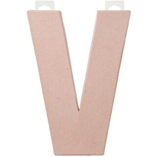 """Paper-Mache Letter 8""""X5.5""""-V"""