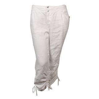 INC International Concepts Women's Linen Ruched Cargo Pants - Bright White|https://ak1.ostkcdn.com/images/products/is/images/direct/a8f03a5e0acfcf75483b3b4639b7aa087d27ed3c/INC-International-Concepts-Women%27s-Linen-Ruched-Cargo-Pants.jpg?impolicy=medium
