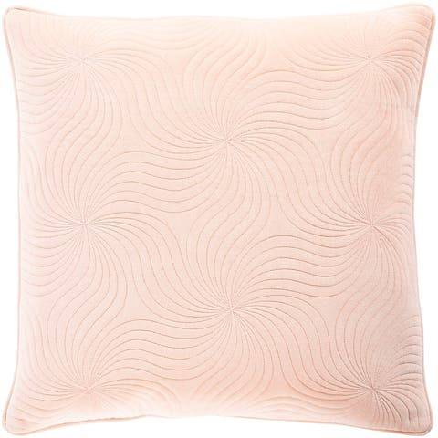 Quinby Quilted Solid Velvet Throw Pillow