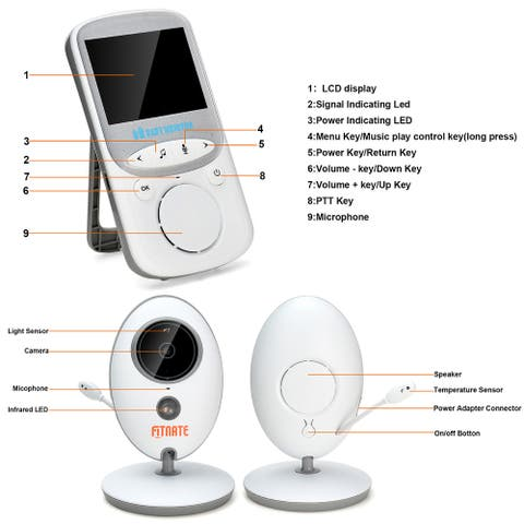 Wireless Video Baby Monitor Digital Camera for Home - S