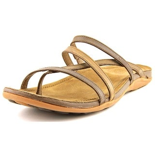 Chaco Cordova Women Open Toe Leather Brown Thong Sandal