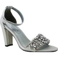Touch Ups Women's Felicity Jeweled Sandal Silver Shimmer