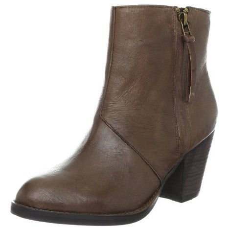 Steve Madden Womens Partenon Leather Almond Toe Ankle Cowboy Boots - 5.5