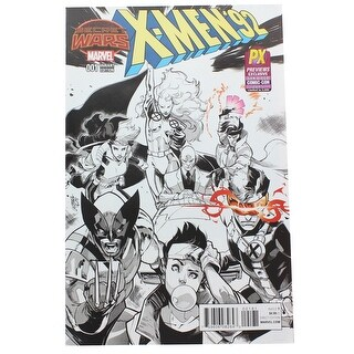 Marvel X-Men '92 #1 Comic Book Pepe Larraz Black & White Cover SDCC 2015 Excl - multi