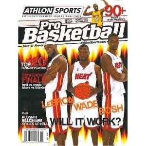 Lebron James unsigned 2010 Miami Heat Athlon Pro Basketball Annual Magazine w/Kobe