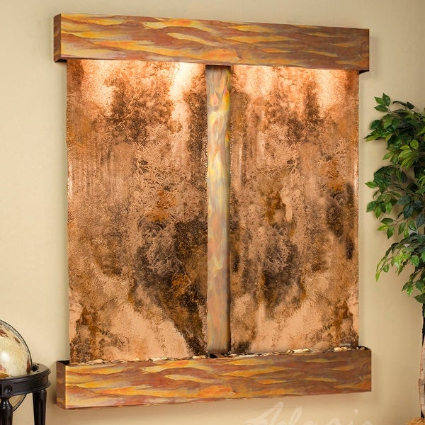 Cottonwood Falls Fountain - Rustic Copper - Squared Edges - Choose Options