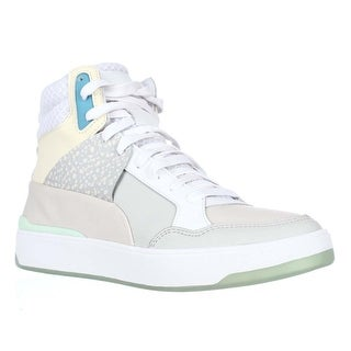 Puma Alexander Mqueen Brace High-Top Fasion Sneakers - White-Whisper White