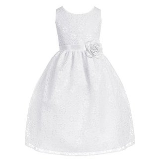 Sophia Young Girls Lace Formal Dress - 6