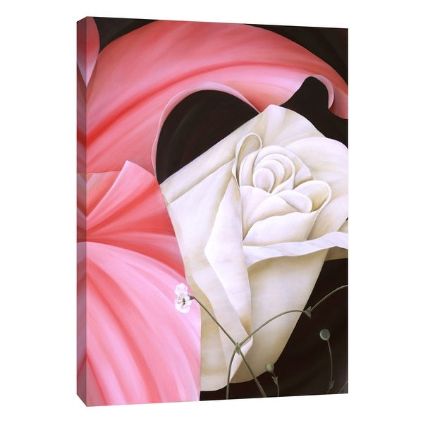 """PTM Images 9-105280 PTM Canvas Collection 10"""" x 8"""" - """"Lilly and Rose's Wedding"""" Giclee Roses Art Print on Canvas"""